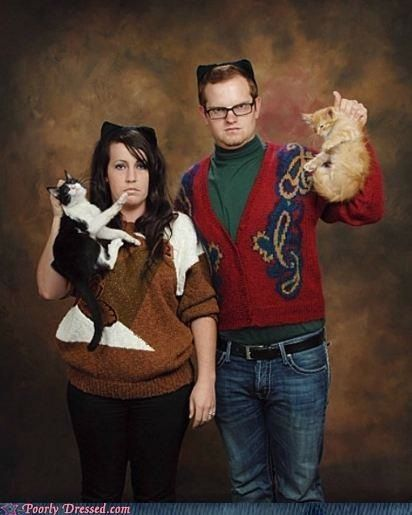 Awkward christmas photos cat