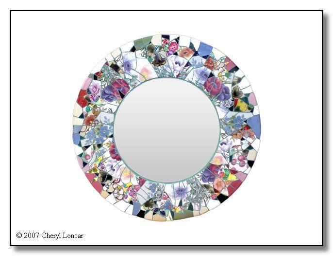 Mosaic mirrors mosaic mirror 617 mosaics ideas pinterest for Mosaic mirror