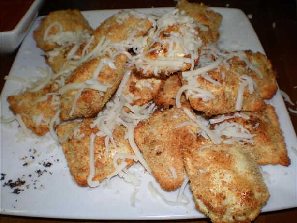 Crispy Baked Ravioli...these are great! I added some Italian seasoning ...