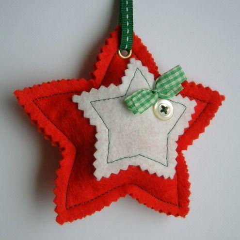 estrella de navidad de fieltro
