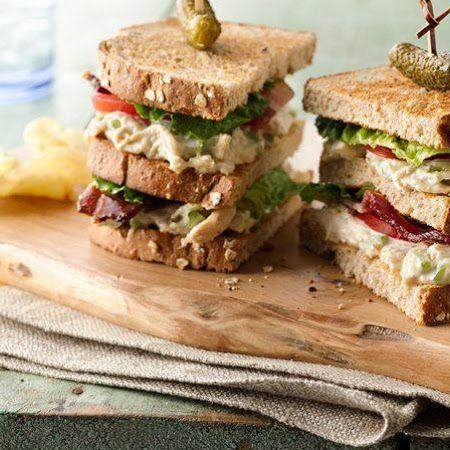 Chicken Salad Club Sandwich Stackers Recipe #recipes #summer