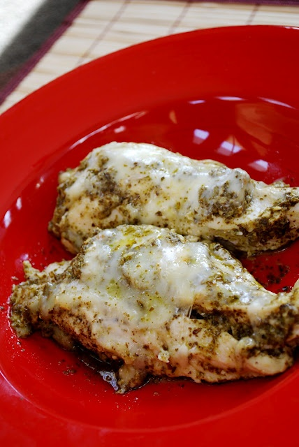 Skinny Chicken Pesto Bake Recipe — Dishmaps