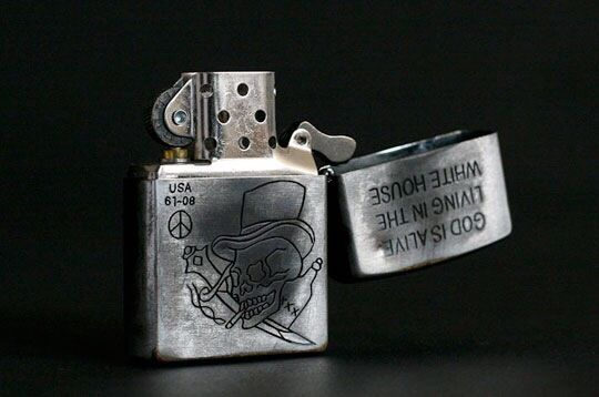 Zippo lighter with skull designZippo Lighter Skull Designs