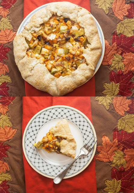 Butternut Squash, Leek, and Goat Cheese Galette