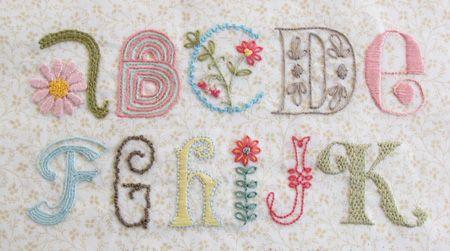 cute alphabet sampler