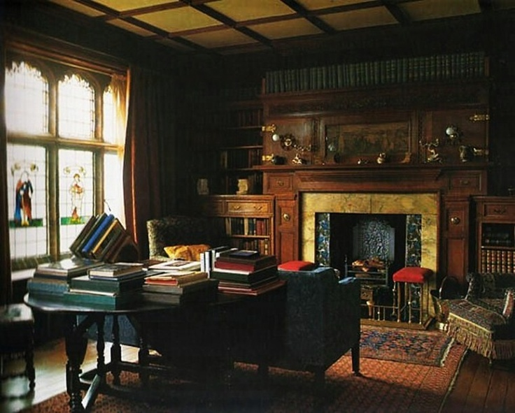 gorgeous old english library english countryside