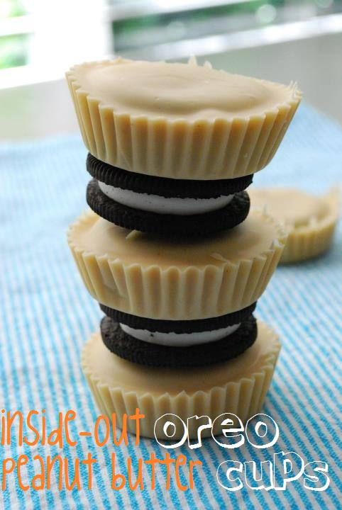 Inside-Out Oreo Peanut Butter (or Almond Butter) Cups - YUM!
