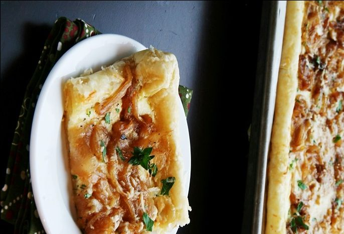 Caramelized Onion Ricotta Tart - No matter how you say that first word ...