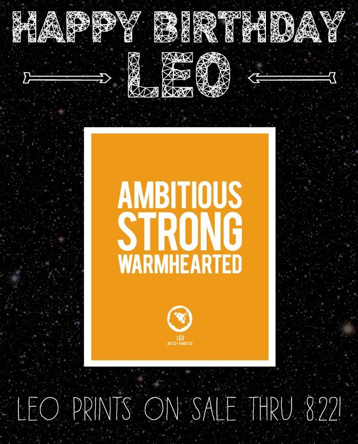 Happy Birthday, Leo... Prints On Sale!