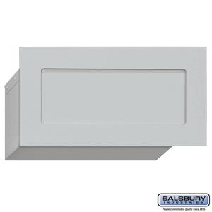 mail drop slot for garage doors