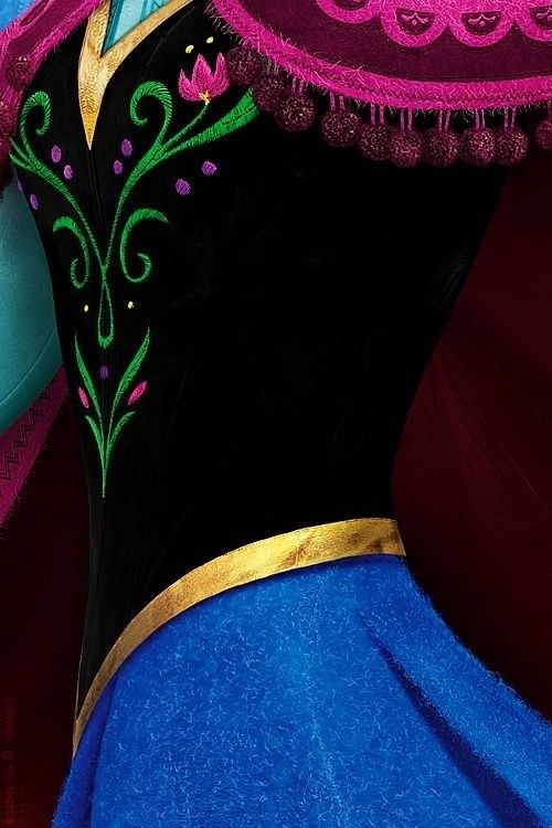 Anna's winter dress corset details