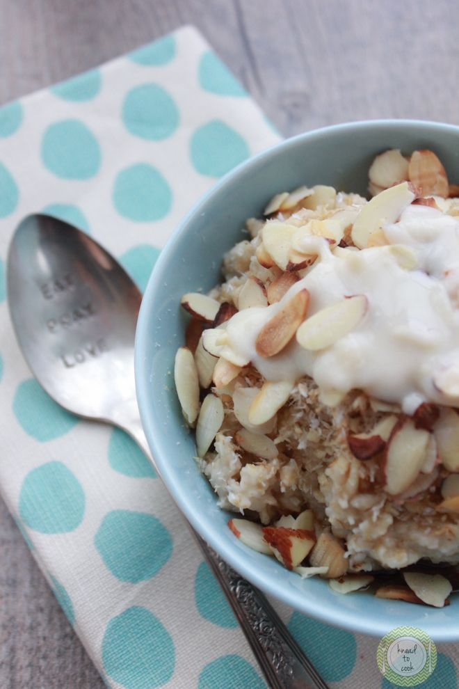 Coconut Oatmeal | Knead to Cook | gluten free, vegan