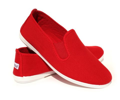 Womens' Canvas Shoes - Eco Red