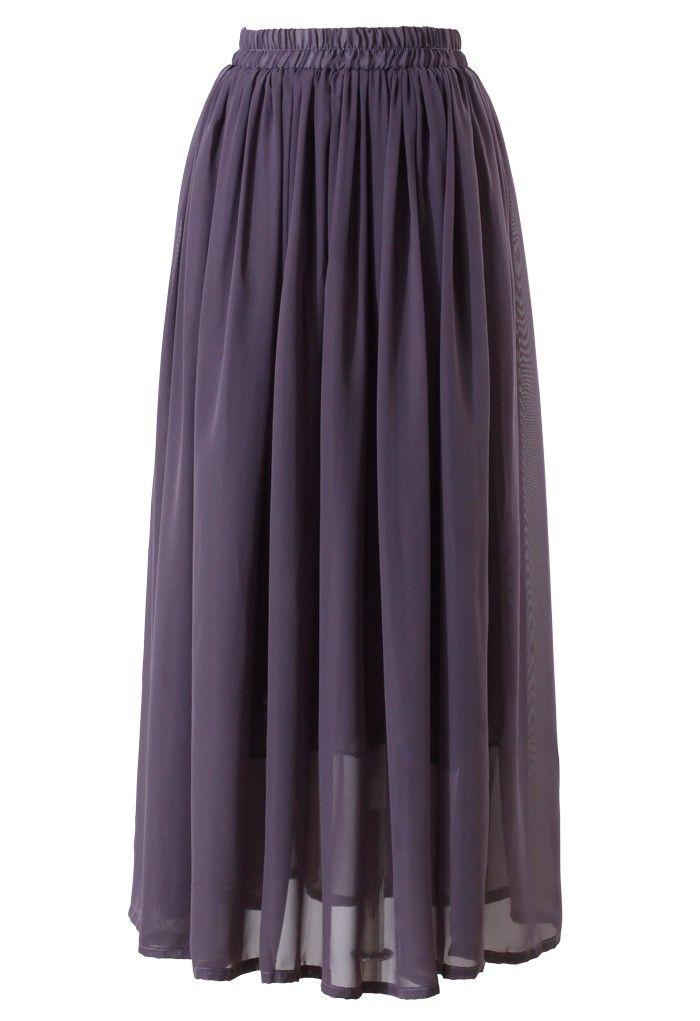 purple pleated maxi skirt fashion dahling