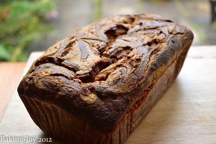 Chocolate peanut butter banana cake