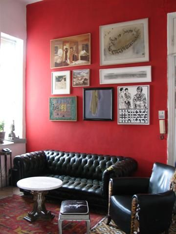red accent wall Funky house decor Pinterest