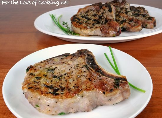 Herb pork chops with caramelized shallots - we love cooking with ...