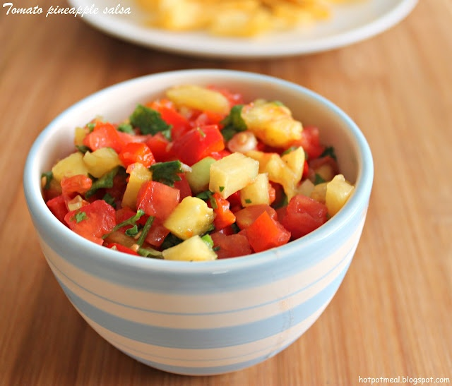 Tomato Pineapple Salsa | Recipes | Pinterest