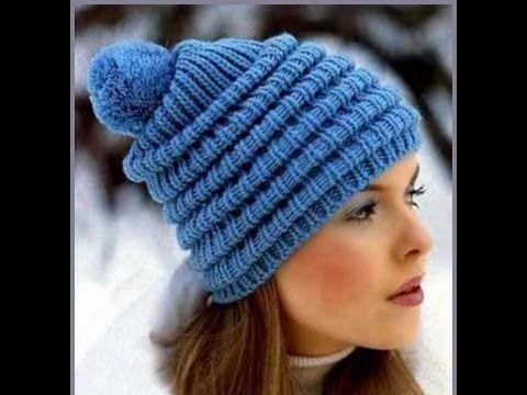 78Видео вязание спицами шапочки