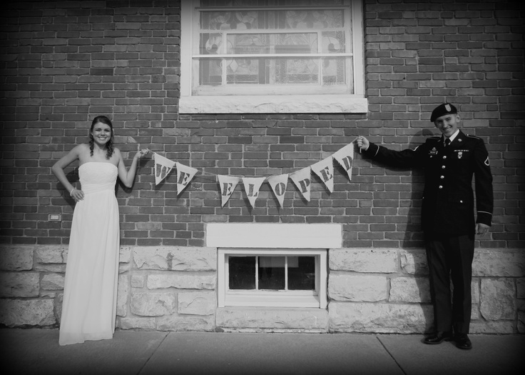 We eloped | In love with a Soldier | Pinterest
