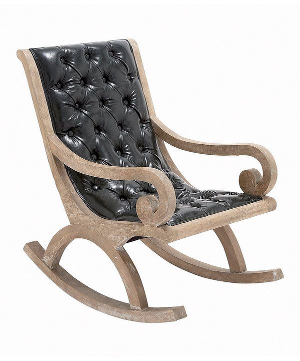 Look at this zulilyfind black leather rocking chair by uma