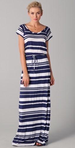 I think I'd wear anything in a nautical stripe, but I particularly love this maxi dress.