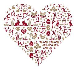 d alphabet in heart  Alphabet heart