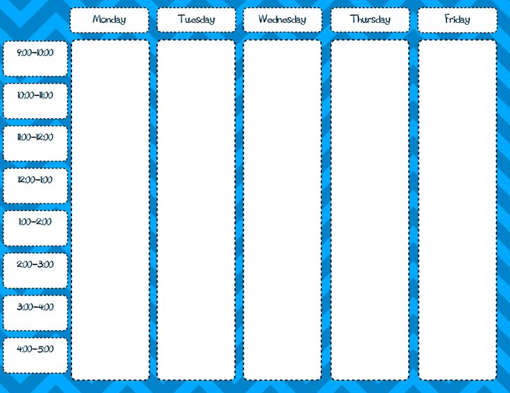 weekly schedule blank free printable pdf | General Homeschool | Pinte ...