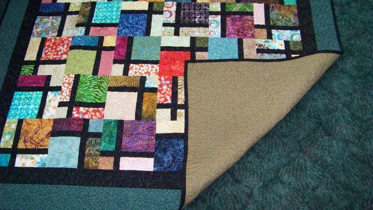 Window panes window pane quilt for Window pane quilt design