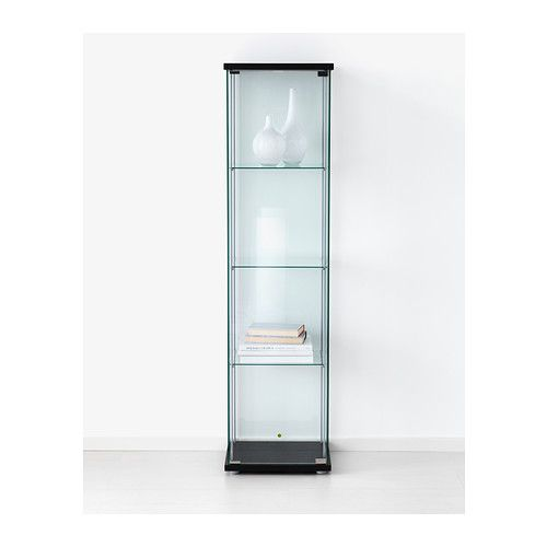 Detolf glass door cabinet black brown - Vitrine collection ikea ...