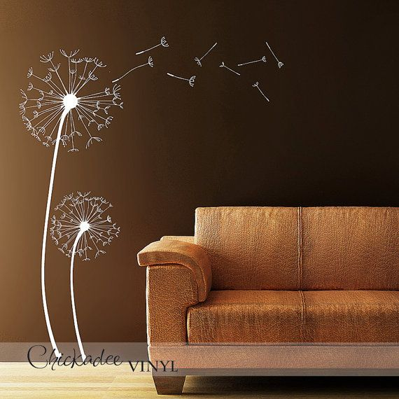 Dandelions removable vinyl wall decal for Dandelion wall mural