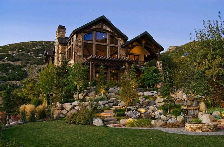 mountain home dream log cabins pinterest