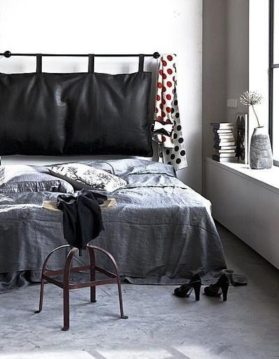 Like The Hanging Pillow Headboard Home Pinterest
