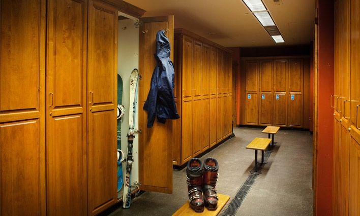 Lifetime Fitness Locker Room