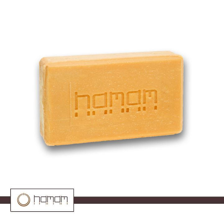 hamam soap Allow the soap to act for 7 to 8 minutes then rinse thoroughly with fresh water complete the skin care process with our luffa gloves to further exfoliate for a softer, healthier touch and to attain a more freshly perfumed and purified skin.