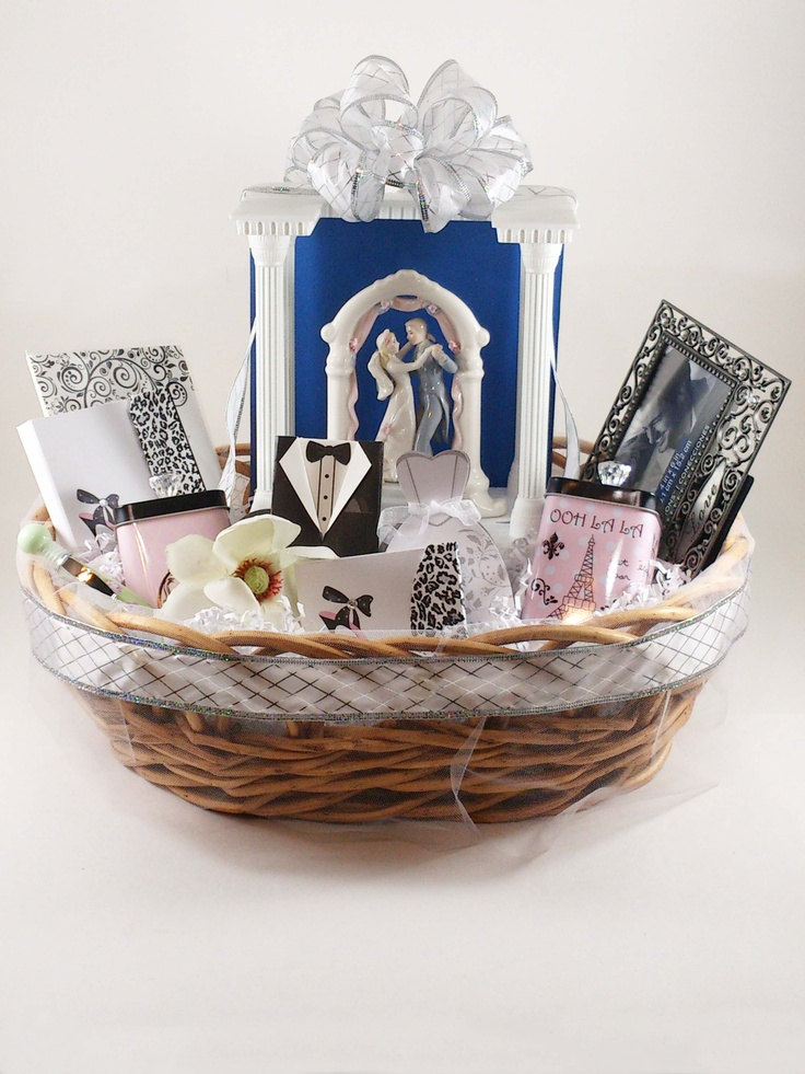 Wedding Gift Basket Notes : This basket would be a great wedding or bridal shower gift. The basket ...