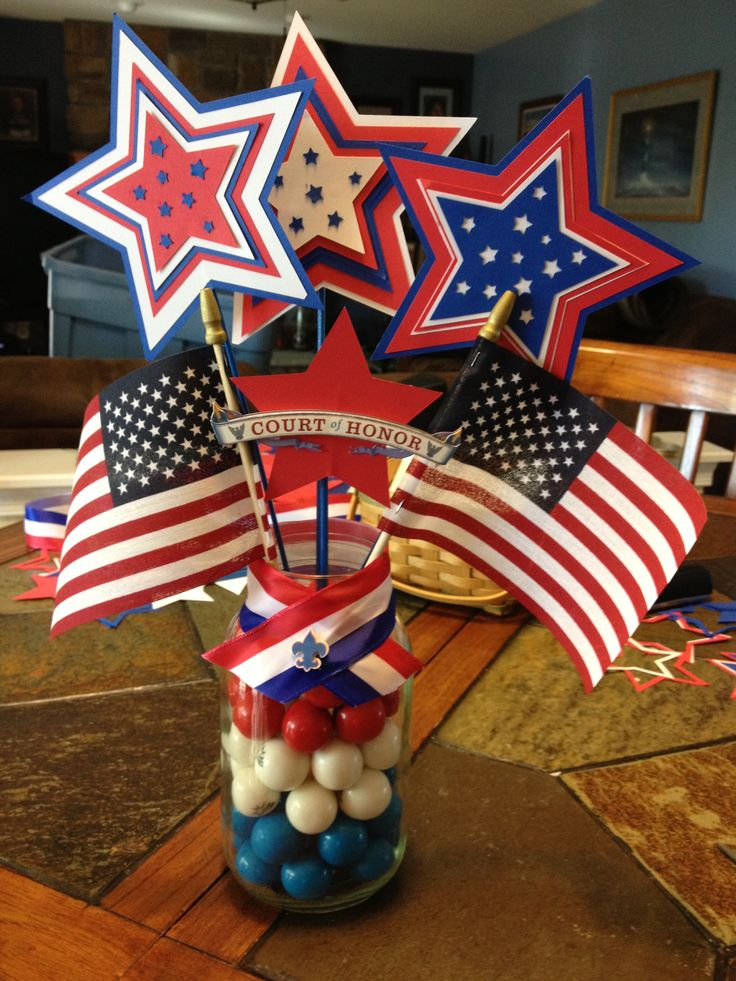 Table decorations 4th of july pinterest for 4th of july decoration