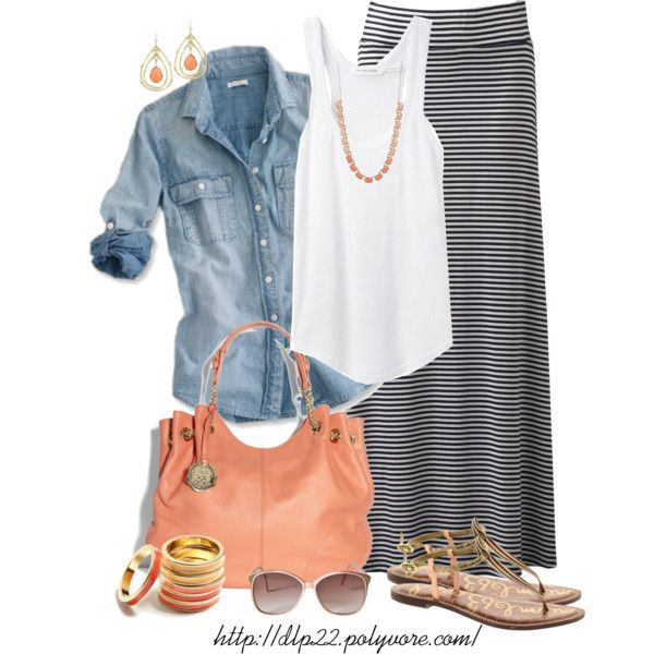 Cute maxi skirt & outfit!