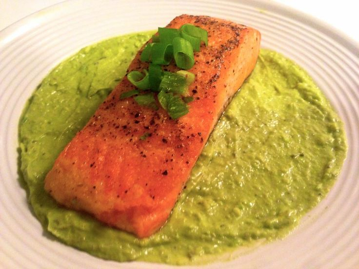 Today's dish: Pan Seared Salmon with Avocado Remoulade (shar.es/IFS8v ...