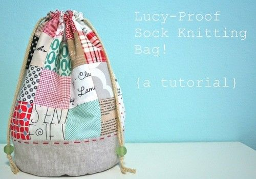 Knitting Project Bag Sewing Pattern : Knitting Project and Supplies Bags & Buckets   Free Sewing Tutorial