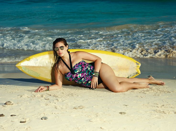 Floral Halter Tankini & Bikini Bottom...Available at Addition Elle, your plus size fashion destination. #plussize