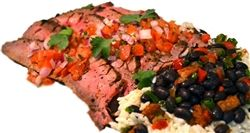 Caribbean Style Grilled Flank Steak with Pico de Gallo Black Beans ...