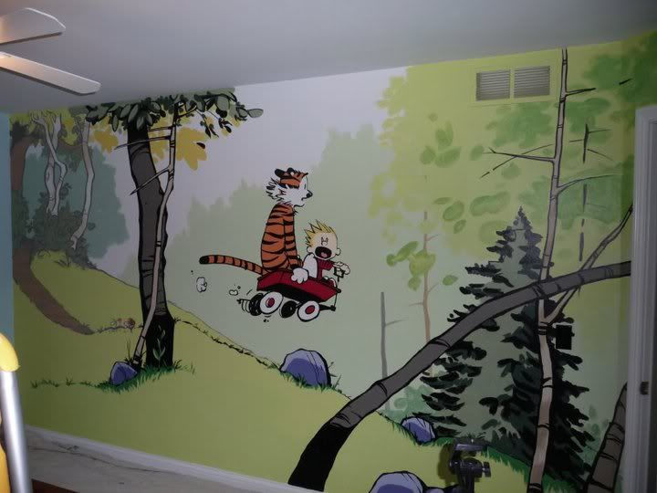 calvin hobbes mural calvin and hobbes pinterest