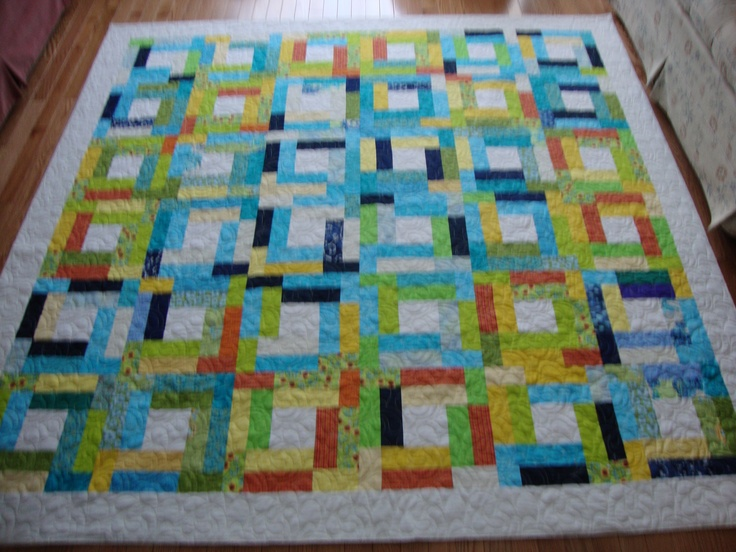 Free Quilt Patterns From Pinterest : Scrappy Squares FREE Quilt Patterns Pinterest