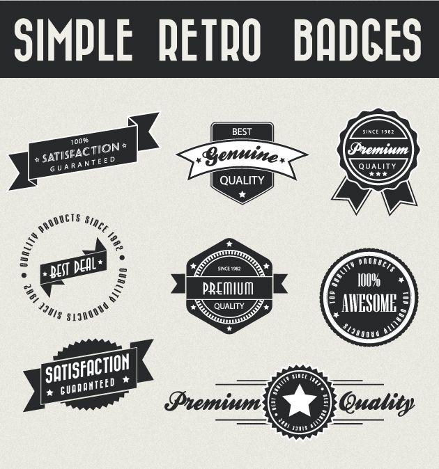 Simple retro badges