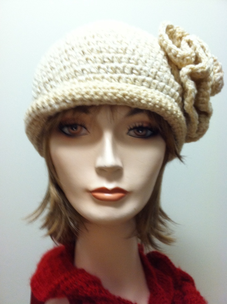 Crocheting Hats For Cancer Patients : Hats I crochet for cancer patients Women/Teen Size Chemo Caps Pin ...