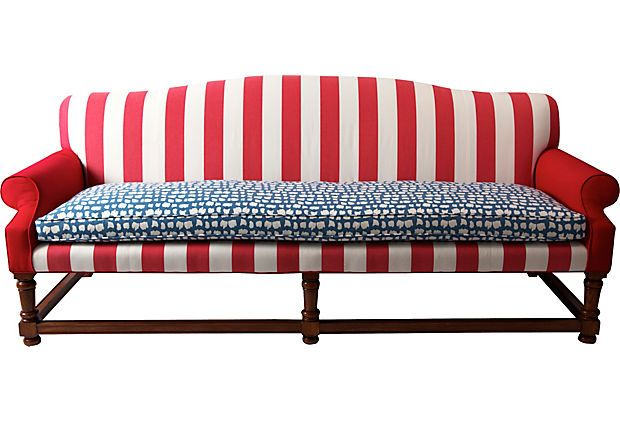 red white and blue stripe sofa  Im Into That  Pinterest