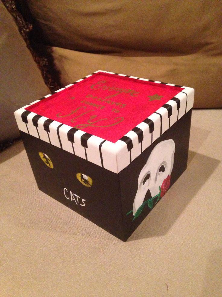 Themed Gift Box Ideas : Broadway themed gift box artseadesigns