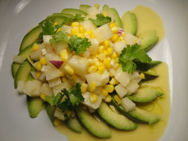 Jicama Avocado Salad with Citrus Vinaigrette! Perfect for summer cool ...