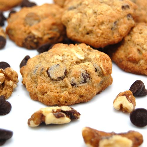 Banana- Walnut Chocolate Chip Cookies Recipe — Dishmaps